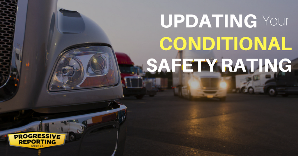 Updating your conditional safety rating