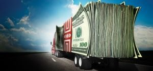 truck with money trailer