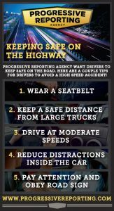 Keeping safe on the highway visual
