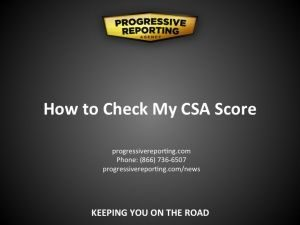 How to Check my CSA Score visual