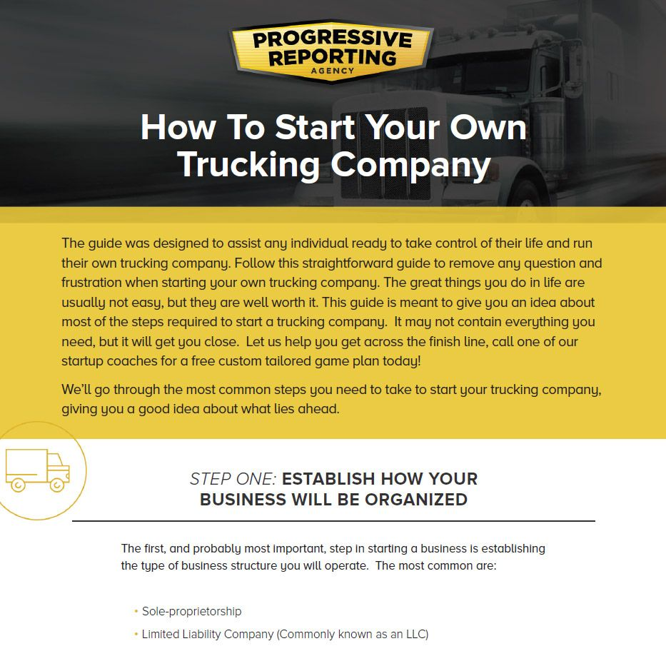 Starting your own company visual