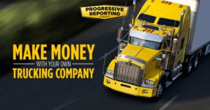A yellow truck