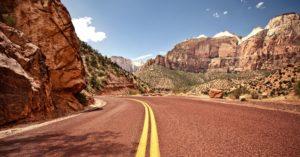 Desert road representing US 89.