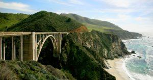 Scenic bridge road representing US Route 101