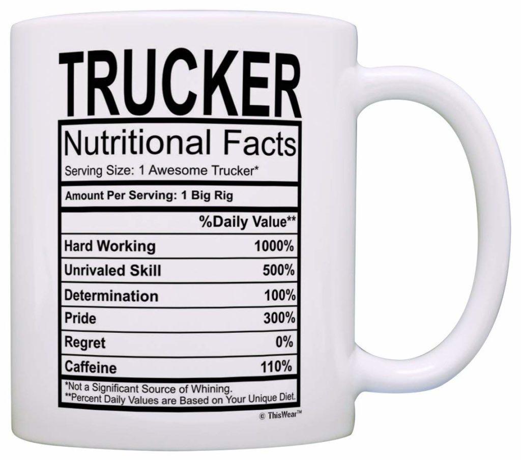 Funny trucker mug from Amazon.